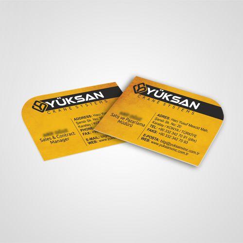 Yüksan Vinç - Kartvizit Tasarımı - Business Card Design