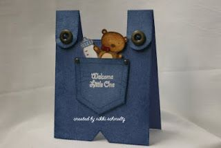 Cute baby / any occasion card! (dont add the baby stuff and make it overalls for anybody!)