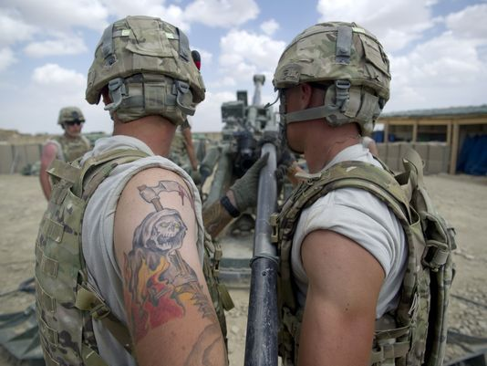 """Under the Army's New Tattoo Policy: Soldiers will be able to have 'ink on their arms and legs' as long as it isn't visible in the Army Service Uniform. This means sleeves are once again authorized as long as they don't extend past the wrist, Sergeant Major of the Army Dan Dailey told Army Times. """"As long as it's not visible in the Army uniform … that's the spirit of what we went after,"""" he said. Army Chief of Staff Gen. Ray Odierno announced the upcoming policy change Wednesday afternoon at…"""
