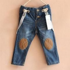 [ 45% OFF ] Big Brand Kids Braces Jeans Boys Girls Kids Wear Baby Overall Jeans 100% Cotton Children Trousers