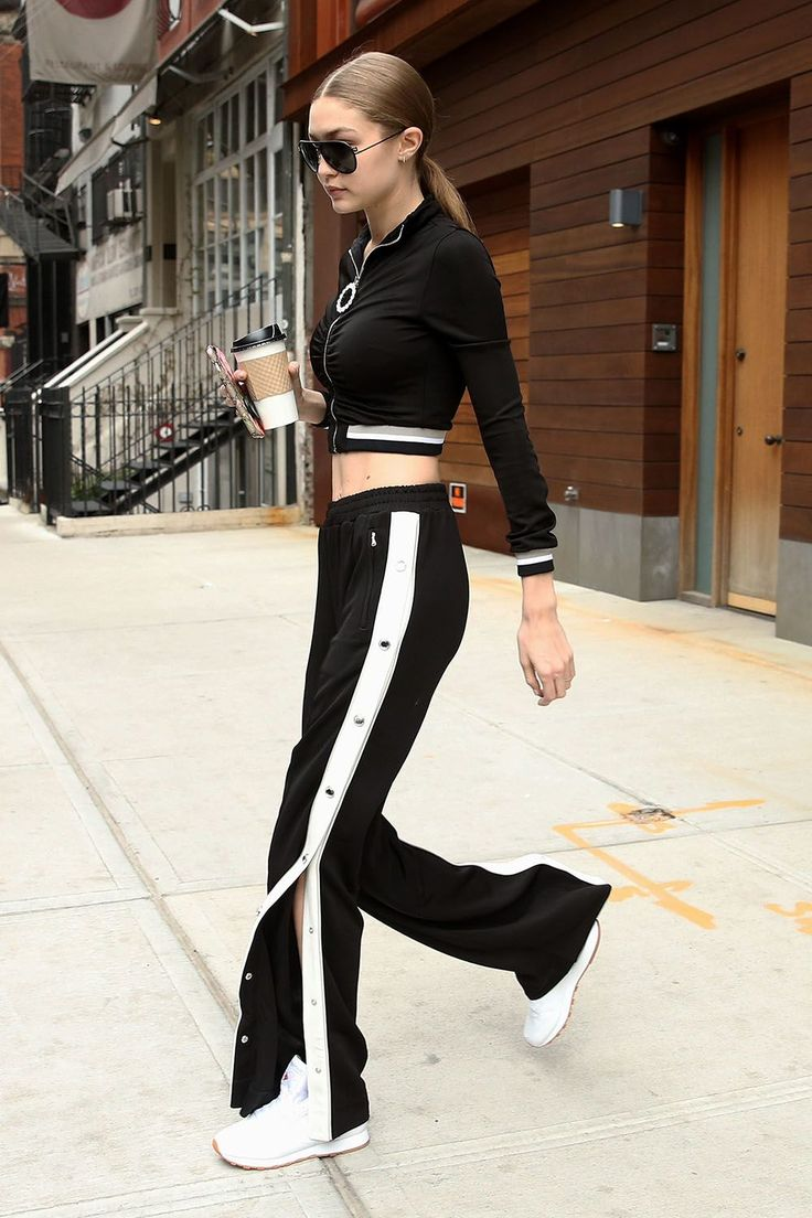 Dope Alessandra Rich Tracksuit, Versace Aviators & White Reeboks. Can we just take a moment to admire those Tear Away trackpants ***Sigh***