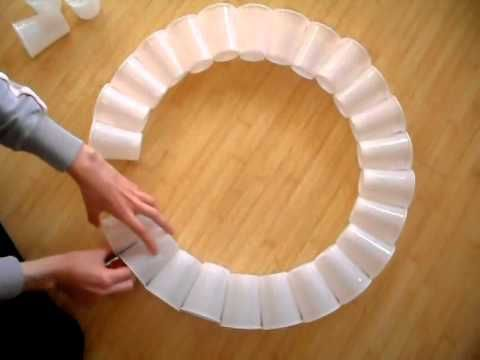 How to Make Christmas Wreath ( Door Decoration ) from Plastic Bottle DIY - YouTube