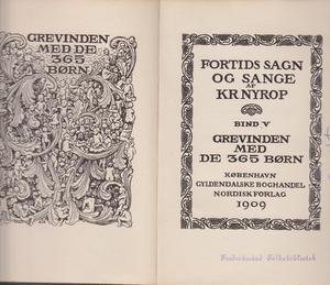 """""""Grevinden med de 365 børn - Fortids sagn og sange bind 5"""" av Kristoffer Nyrop"""