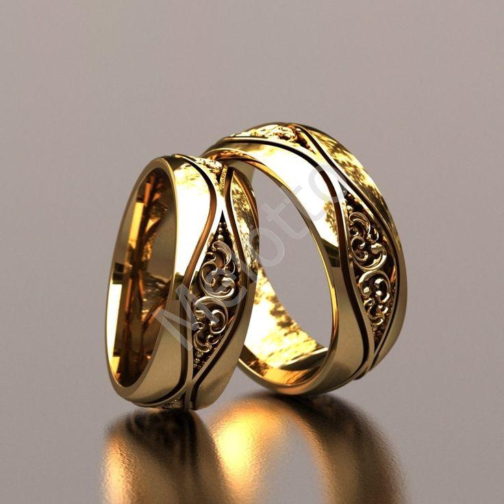 Дизайнерские обручальные кольца с цветочным орнаментом 53000 руб. Пара