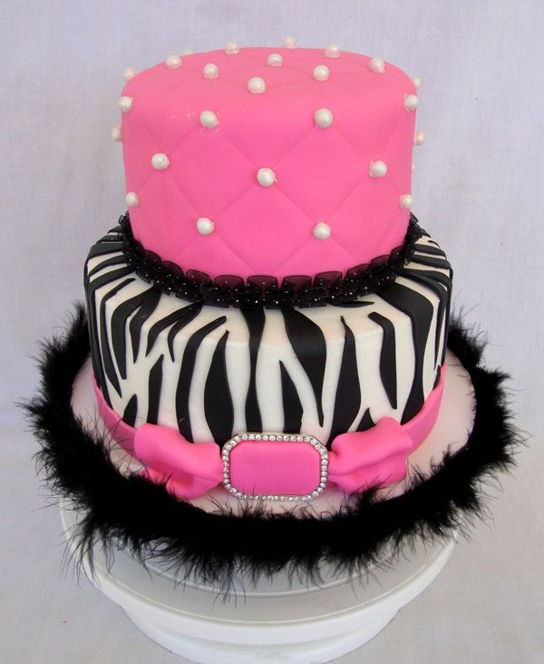 Super Cute! Kendall would love this cake on her Birthday!: Zebras Birthday Cakes, Zebras Cakes, Baby Shower Cakes, Cakes Ideas, Pink Zebras, Birthday Parties, Pink Cakes, Birthday Sweet, Baby Shower