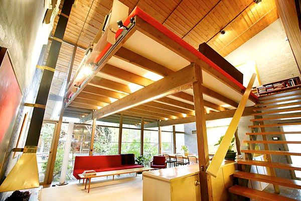 Architect Robin Boyd's family home at 290 Walsh Street, South Yarra. The four-bedroom house, with a Japanese design influence, was built in ...