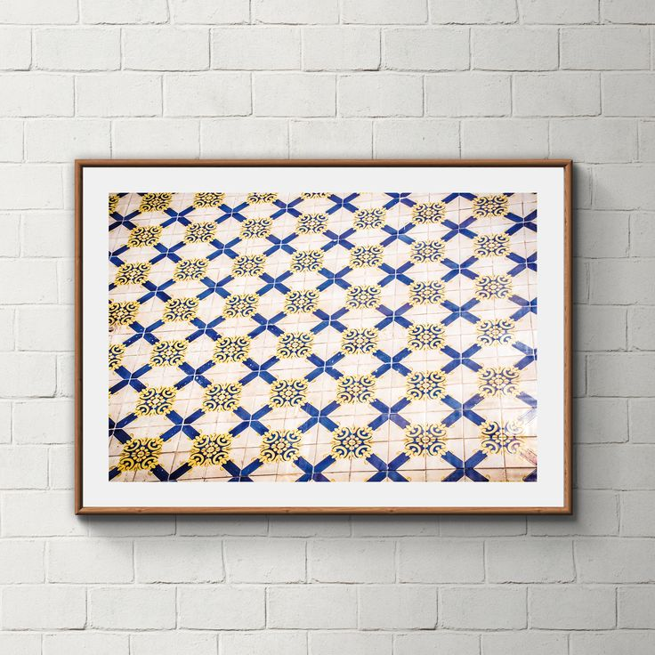 030_PrintAzulejos, Azulejos, Poster, Wall, Printable, Portugal, Pattern, Tiles, Photography, Instant download