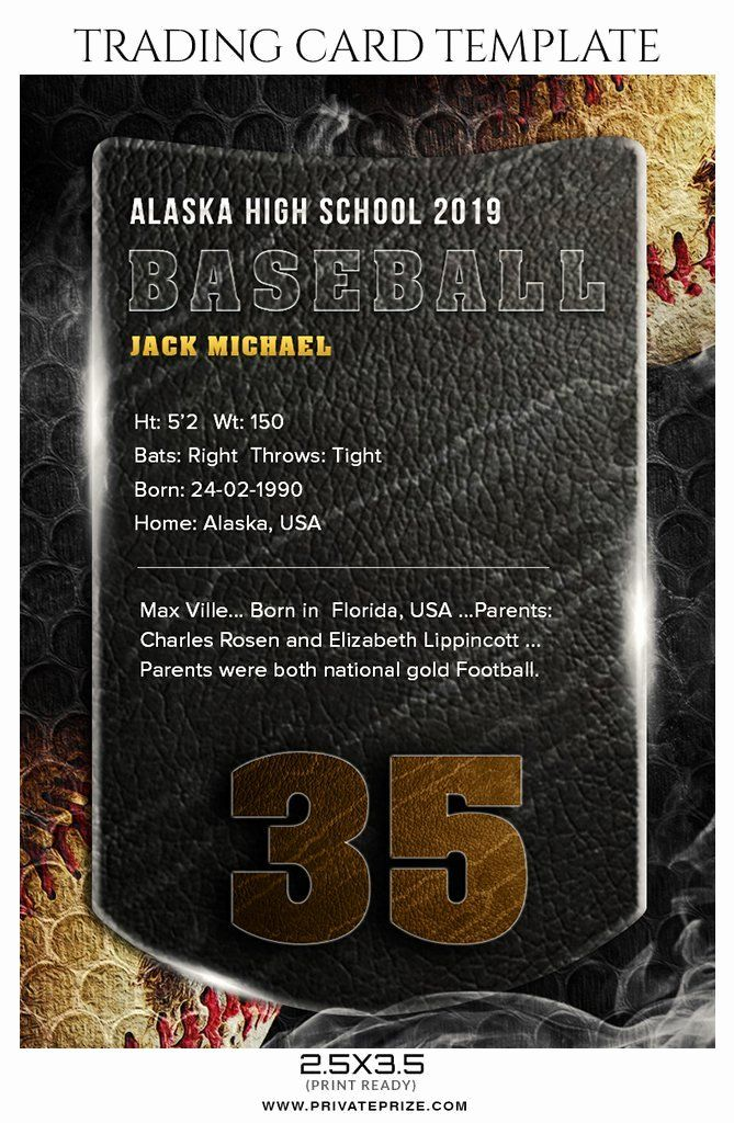 Trading Card Template Photoshop Best Of Jack Michael Baseball Sports Trading Card Shop Template Trading Card Template Card Template Cards