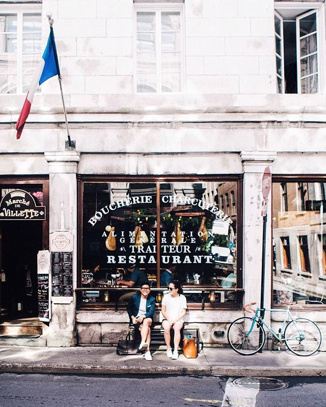 Bonjour, Montreal! It's my first time visiting this beautiful city in Quebec, and I couldn't be more in love. We spent countless hours wandering the streets of Old Montreal, and drank endless cups of espresso. _ I'm here for the next few days with @oikos_canada attending the Lolë White Tour happening this evening. I couldn't be more excited! Any tips or places to see in Montreal are always welcome! 💕 #EscapeMoment #MomentDevasion