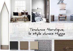 Moodboard - Déco, planche d'ambiance, tendance nordique, style danois Hygge, réalisation well-c-home