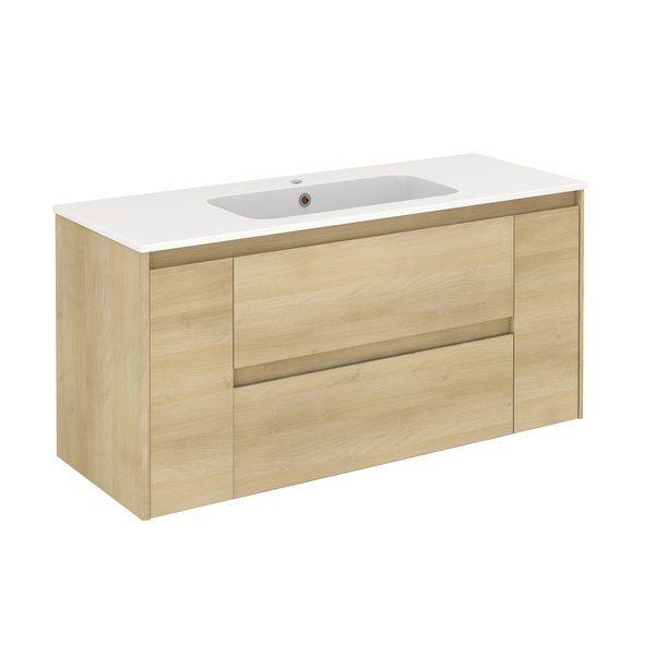 Ambra 48 Wall Mounted Single Bathroom Vanity Set Bathroom