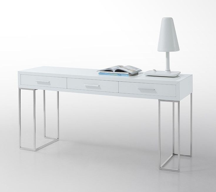 Best 25 white lacquer desk ideas on pinterest for Modern white lacquer console table