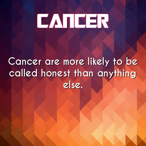 cancer daily astrology fact. yes we are