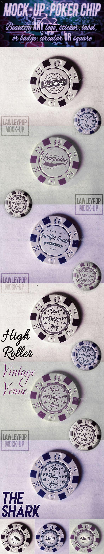Poker Chip Mock Up Mockup Design Presentation Design Clothing Mockup