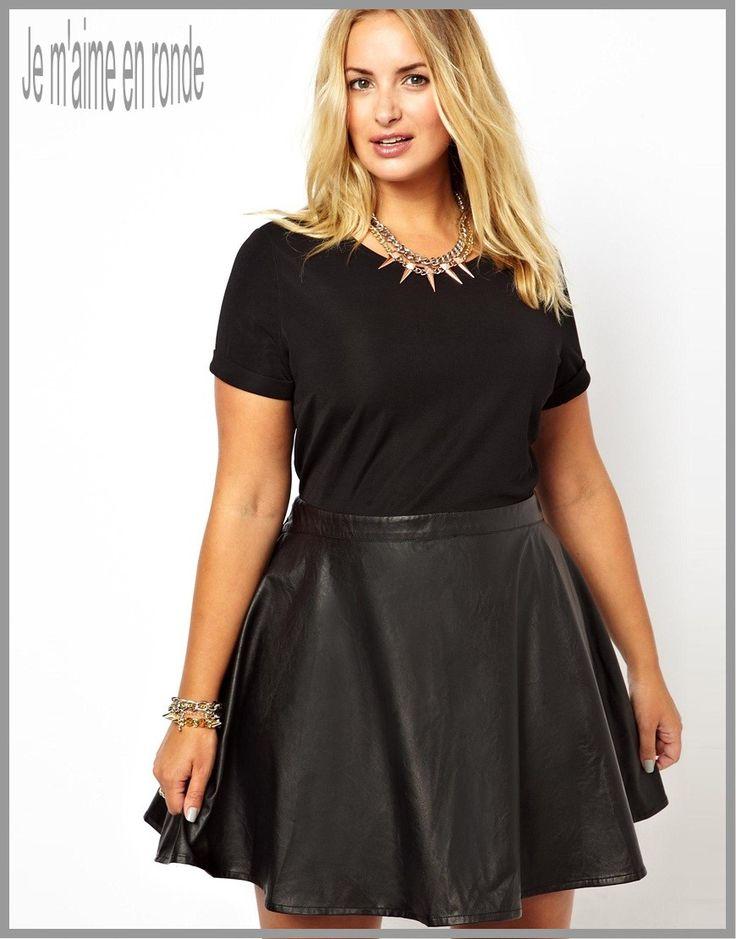Jouez l\u0027élégance et le style avec des robes pour femme ronde en simili cuir