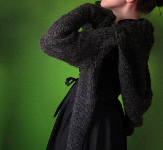 Knitting Pattern For Shrug With Hood : PDF knitting pattern- Minx Hooded Shrug The ojays ...