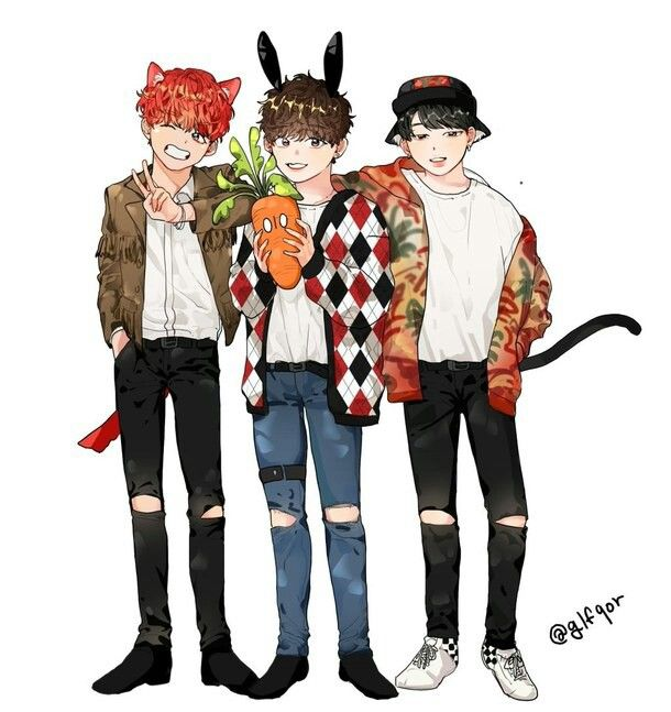 BTS maknae line fanart