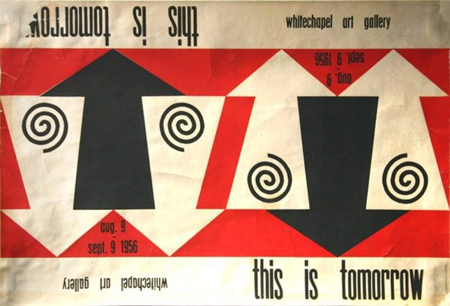 Poster for the This is Tomorrow exhibition by John McHale and Edward Wright / 1956