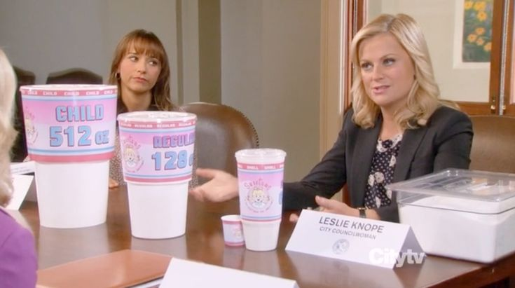 Watch Parks and Recreation Tackle Soda Tax Hysteria - Video Interlude - Eater National