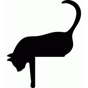 i think im in love with this shape from the silhouette design store get some yourself some pawtastic adorable cat shirts cat socks and other cat apparel - Black Cat Silhouette Halloween