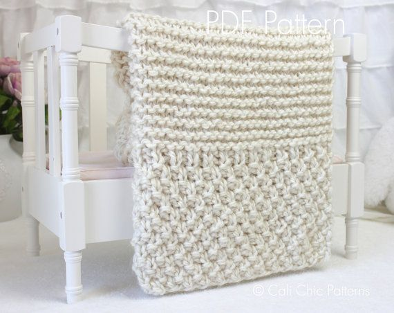 Knitting Pattern For Baby Blanket Beginner : 1000+ ideas about Knitting Baby Blankets on Pinterest ...
