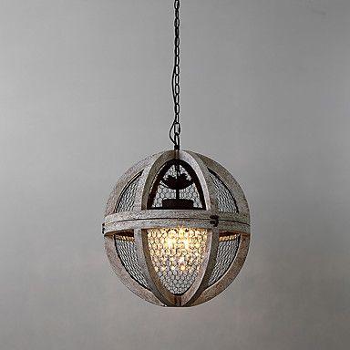 Vintage metal amercian industrial loft pintura lámpara de araña de madera de color para el interior / hotel / sala de café / decorar – USD $ 463.99