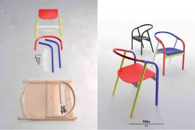 Otto design chair by Werther Toffoloni
