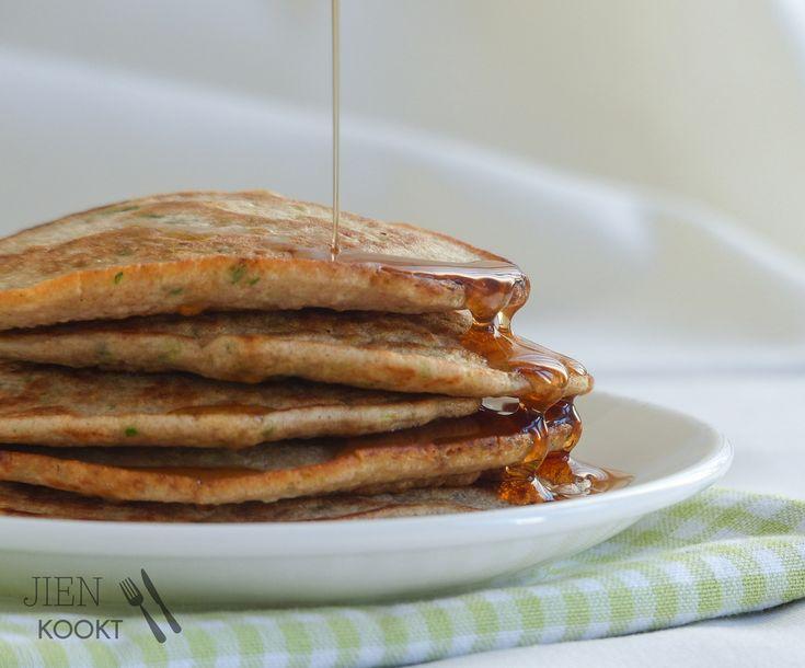 'Dag ochtendhumeur!': van (deze gezonde courgette)pannenkoeken wordt iedereen vrolijk — Jien kookt