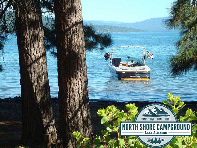 Come visit the North Shore Campground and #RVPark located in #NorthernCalifornia in Plumas county in a town called Lake Almanor - just minutes away from Chester. We have a large variety of #RVsites and #Tentsites just waiting for you to come rent. Go #camping and explore the great #outdoors of the #NorthState. Check out this #boatrental just cruising on the lake. Pretty picturesque huh? Visit northshorecampground.com or email info@northshorecampground.com to find out rental availabilities!