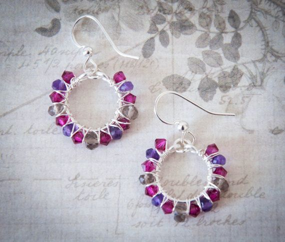 Le Meridien Earrings- Ruby - White Apple Gifts