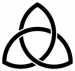 The triquetra has been used to symbolise the holy trinity but predates Christianity by some time. It has been found in Celtic and Nordic inscriptions and arts or Germanic coins and also some 11th century Swedish runes. Some modern traditions use it to represent the connection between the mind, body and soul. In Celtic-based Pagan traditions it is often used as a symbol of the three realms of earth, sea and sky.