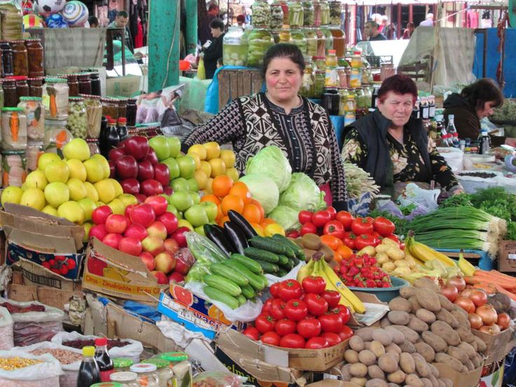 Fresh fruit and vegetables are available at the public market in Stepanakert, Republic of Nagorno Karabakh.