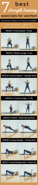 7 Best Strength Training Exercises for Women | www.nourishmovelove.com