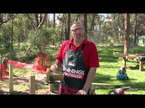 How to build a fence!  Here's a great DIY guide on how to build a fence from Bunnings.