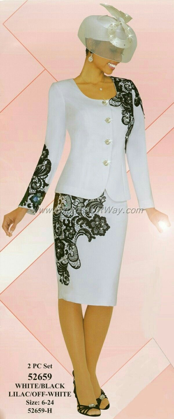 Beautiful white and black suit