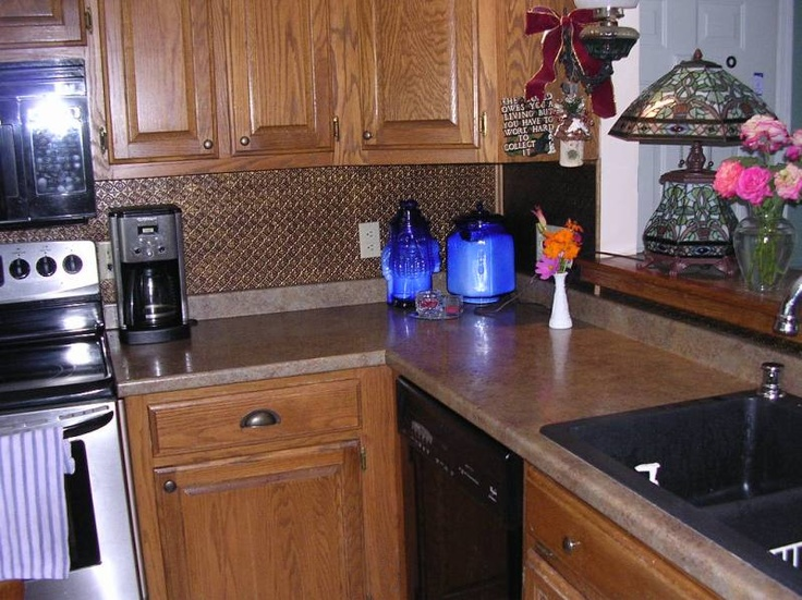 Interesting Kitchen Backsplash Rolls Pvc Faux Tin Roll Stainless