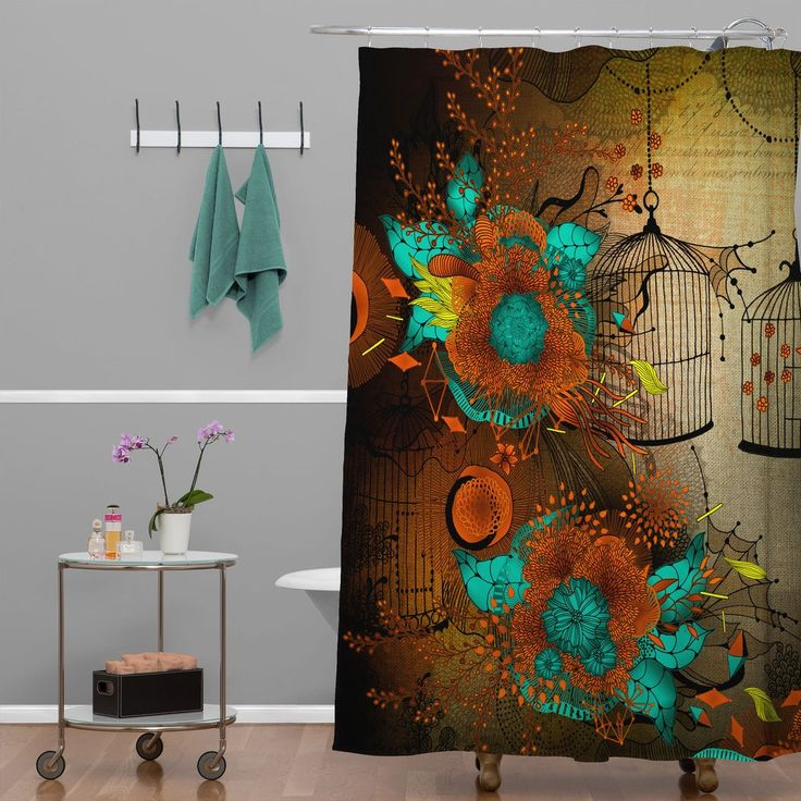 Iveta Abolina Rusty Lace Shower Curtain | DENY Designs Home Accessories