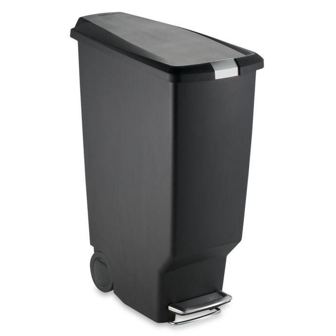 Simplehuman Slim Plastic 40 Liter Step On Trash Can Simplehuman
