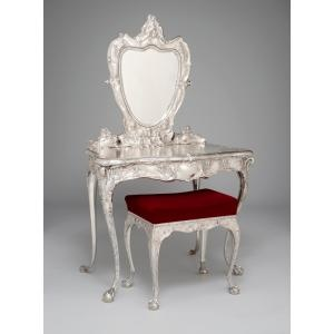 Martelé Dressing Table And Stool, William C. Codman, Gorham Manufacturing  Company, 1899