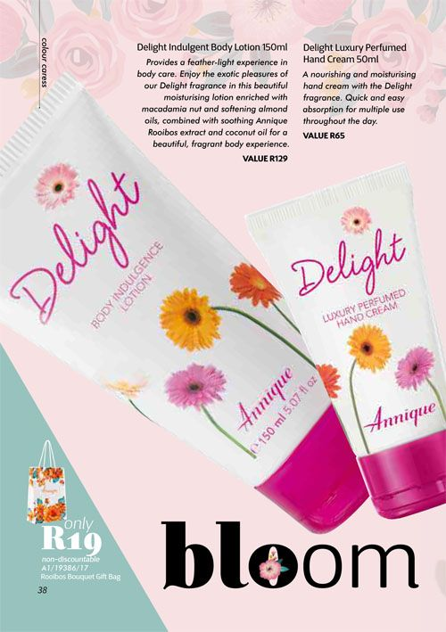 Annique Health and Beauty October 2017 Specials. Delight yourself in this Trio.  Body Lotion, Hand Cream and 30 ml Fragrance