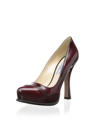43% OFF Prada Women's Stitched Pump (Scarlet)