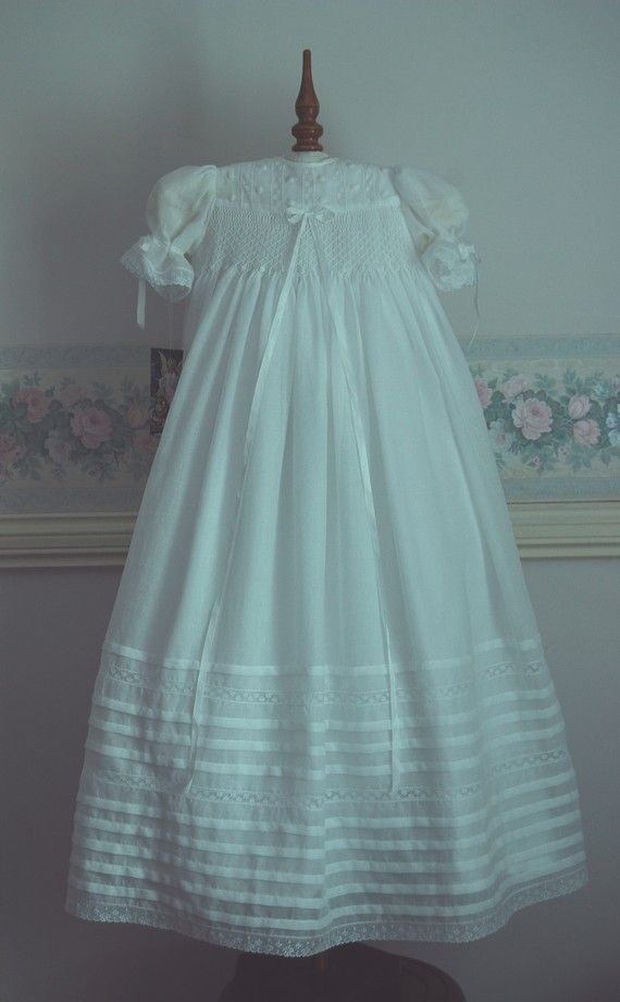 A Beautiful Heirloom Christening Gown created by myheavenlydesigns