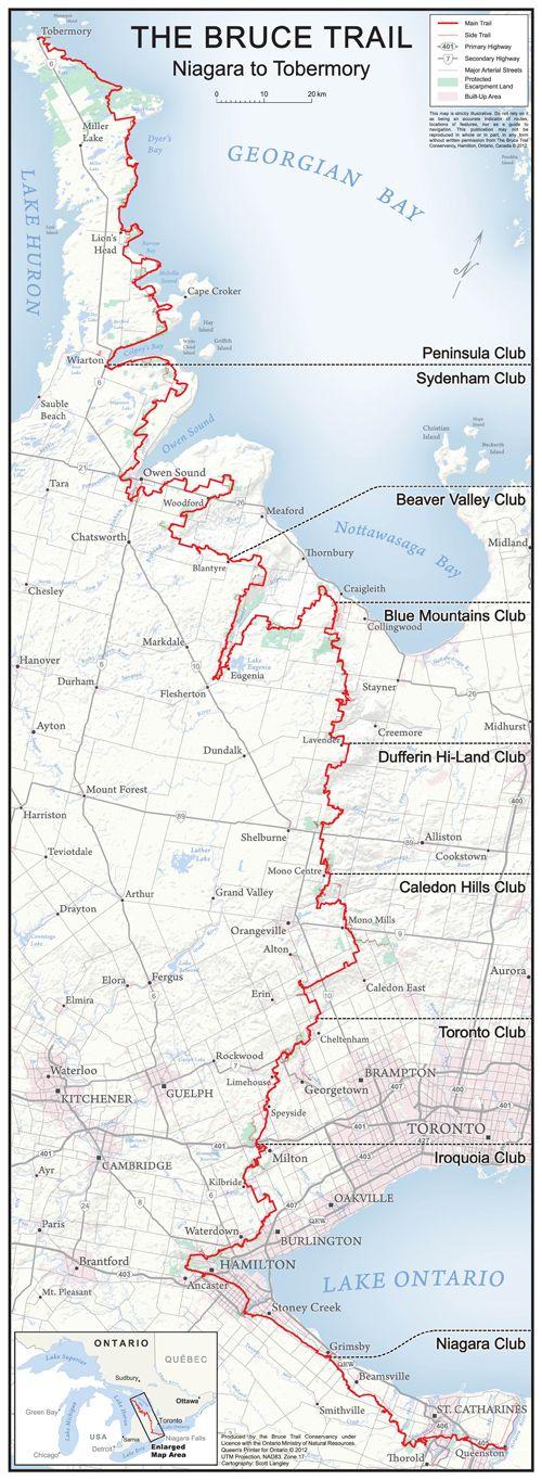 Bruce Trail Hike #2 - Niagara Falls (Map 02) - Justin Plus Lauren