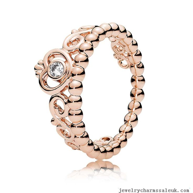 Pandora Rose Princess Tiara Ring 791961CZ