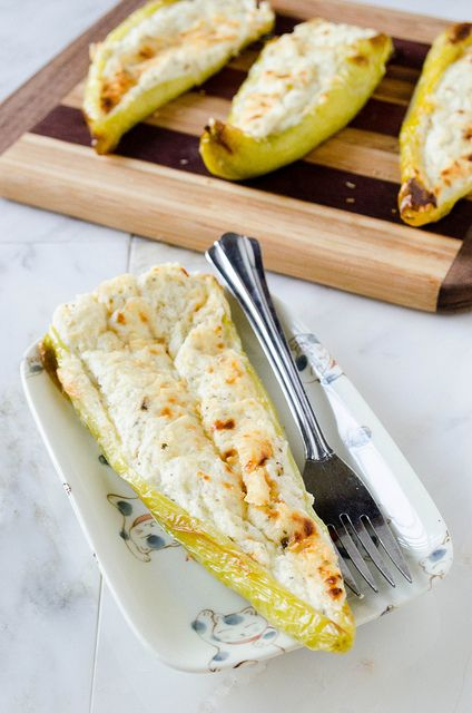 Cheesy Stuffed Banana Peppers (Gluten Free)   cooking ala mel by cookingalamel, via Flickr