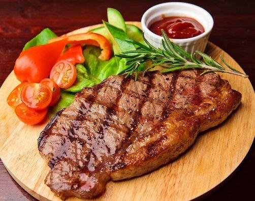 Marble beef steak Ribeye  Говядина, стейк из толстого края без кости