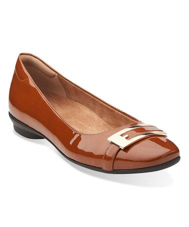 Another great find on #zulily! Cognac Candra Glare Flat #zulilyfinds