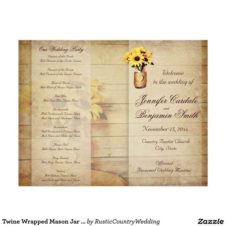 Best Wedding Ceremony Programs Images On   Wedding