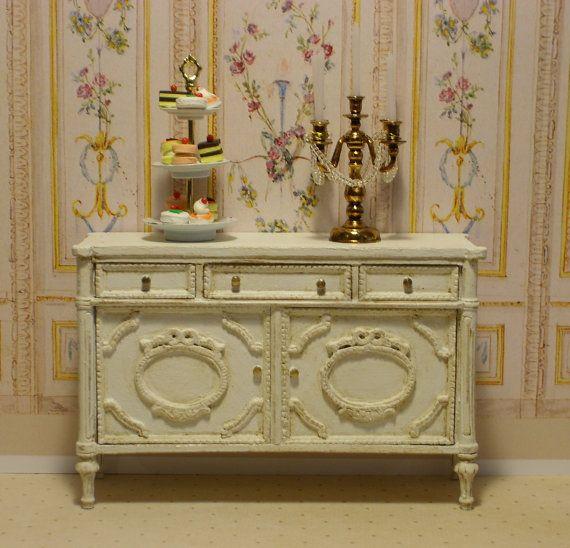 Louis Xvi Sideboard Miniature Dollhouse Furniture By