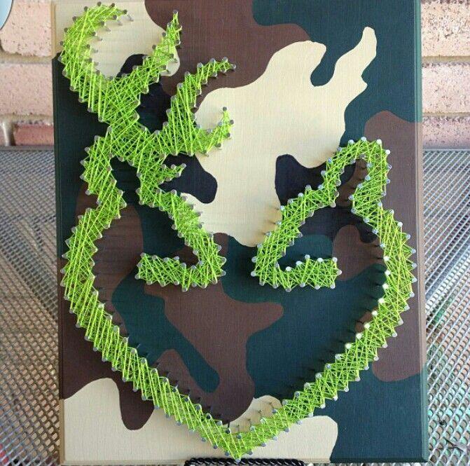 Browning string art